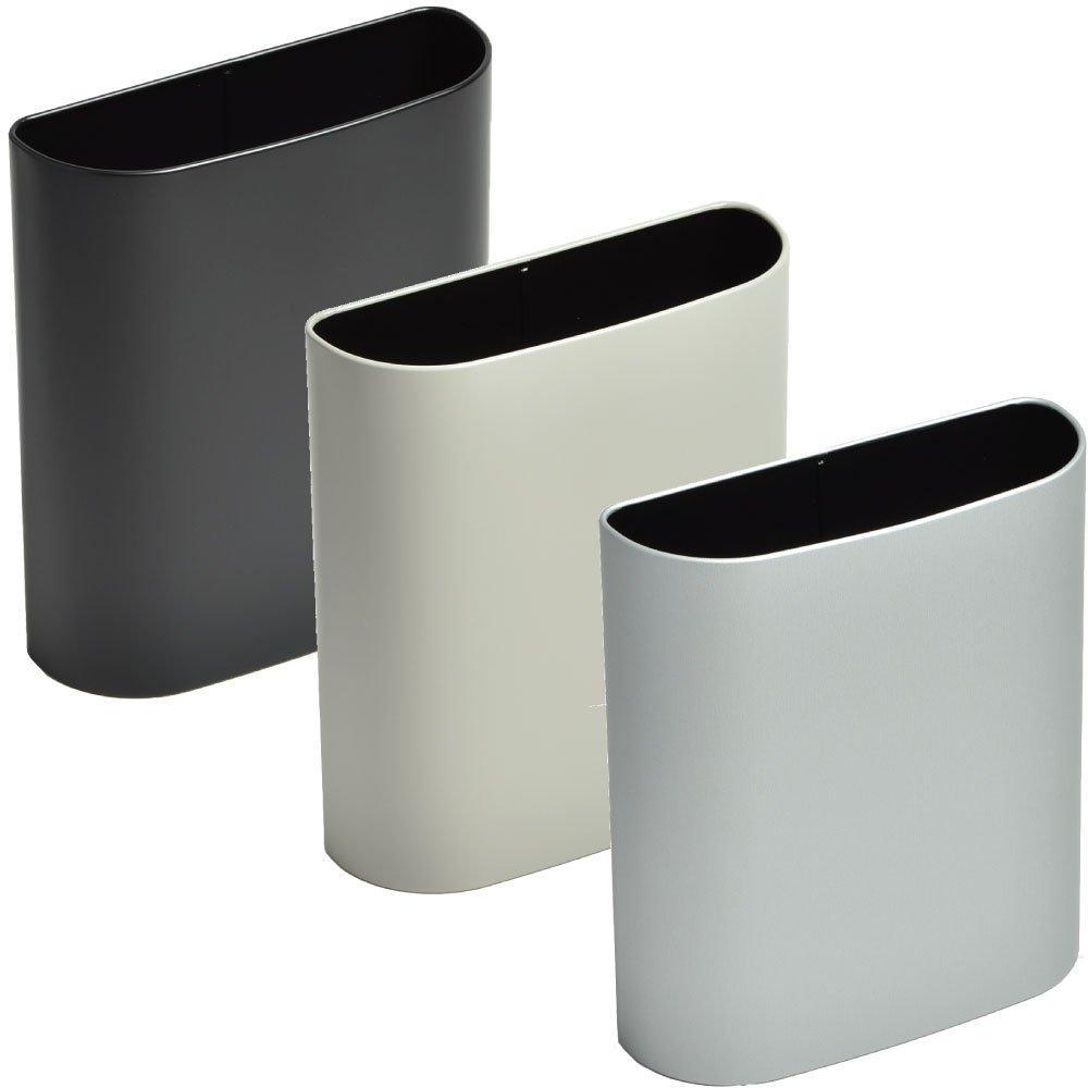 ぶんぶく マグネットバケット 全9色の中から選べる3個セット ゴミ箱 ごみ箱 ダストボックス おしゃれ 日本製 (ブラック×グレー×シルバーメタリック) B075JZ2V3C ブラック×グレー×シルバーメタリック ブラック×グレー×シルバーメタリック