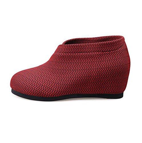 RED Mesdames Mesh Hauts Chaussures Mesh Ronde compensées Surface Femmes Chaussures 37 Talons Automne BOTXV rayée Taille wH6n5TCUqx