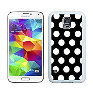 Unique Polka Dot Black and White S5 Case Best New Samsung Galaxy S5 Case White Cell Phone Hard Shell Back Cover