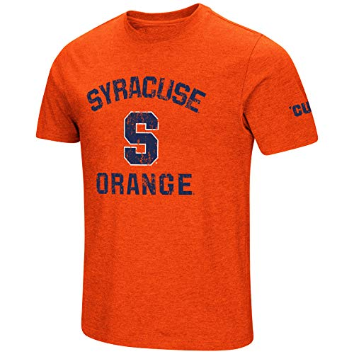NCAA Colosseum Men's Vintage Dual-Blend T-Shirt with 2 Logos (Syracuse Orange-Orange, Large)