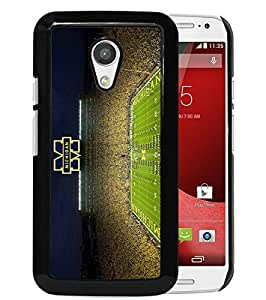 Popular And Unique Custom Designed Case For Motorola Moto G 2nd Generation With Ncaa Big Ten Conference Football Michigan Wolverines 16 Black Phone Case