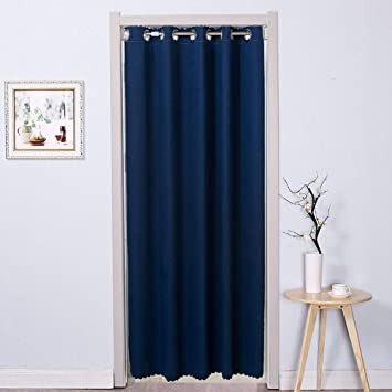 Patio Sliding Door Curtain Thermal Grommet Blackout Curtains Keep Warm Draperies Glass Drapes