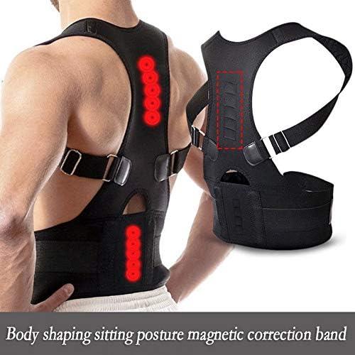 調整可能な磁気姿勢補正姿勢ブレース脊椎サポートForBack肩腰椎、男性用ウエストサポートベルト - 快適で控えめな、痛みを軽減、姿勢を改善 (Size : L)