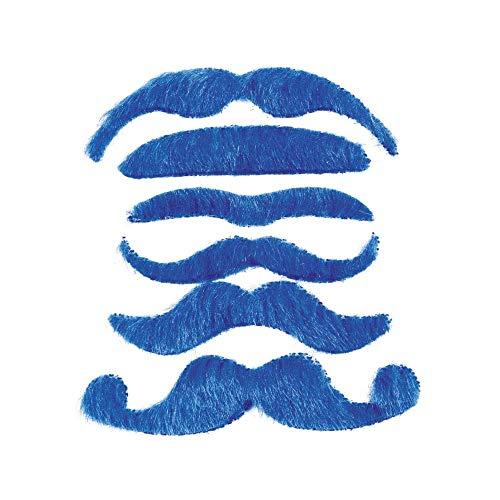 12 Synthetic Mustache Assortment - Costume Moustache -