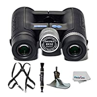 SNYPEX Optics New 2016 Knight 8x32 D-ED Compact Sports Optics Pocket Binoculars + Black Webbing Harness + Ultra Microfiber Cloth - Pouch + Lens Cleaning Pen + Photo4Less Cleaning Cloth + Great Value