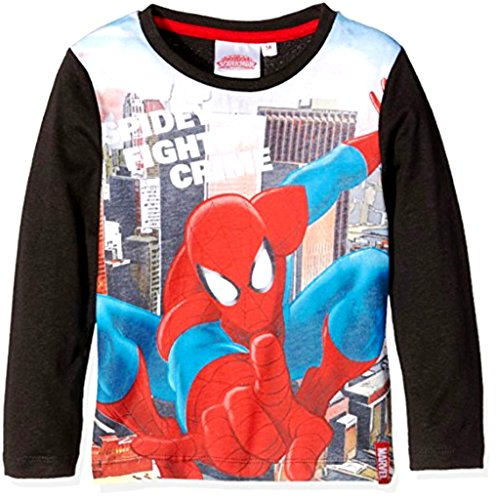 Kids Official Marvel Ultimate Spiderman Long Sleeve T-Shirt Ages 3-8 d7d1f5595ec7