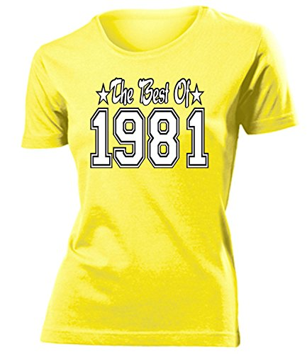 THE BEST OF 1981 - DELUXE - Birthday mujer camiseta Tamaño S to XXL varios colores Amarillo