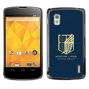 EJOY---Cubierta de la caja de protección la piel dura para el / LG Nexus 4 E960 / --Legión de exploración