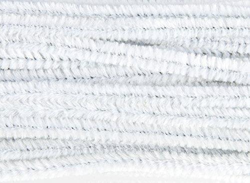 Creative Hands Fuzzy Stix Chenille Stems, White