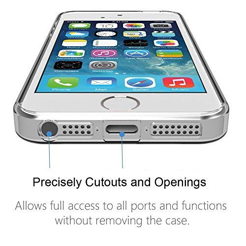 iPhone 5 / 5S Hülle (4.0 Zoll) , ivencase 3x Case Transparent Weiche Silikon Schutzhülle TPU Bumper Case für iPhone 5/5S/SE
