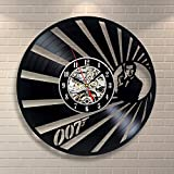 james bond vintage - James Bond Vinyl Record Clock Home Design Room Art Decor Handmade Vintage