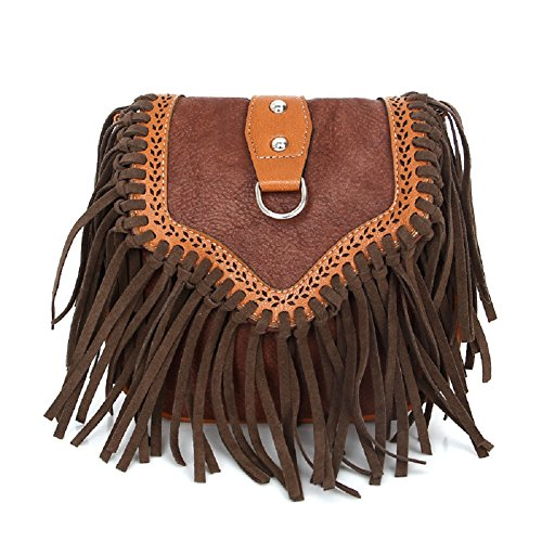 - Mothers Day Gifts, Urmiss Vintage Bohemian Crossbody Bags Hippie Lace Up Hollow Handbag Flap Fringe Shoulder Bag Pouch Purse Tassel Messenger Hobo Bag