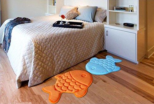Hughapy Slow Rebound Memory Foam Children Bath Rug Christmas Fish Slip Resistant Coral Fleece Mat Doormat Carpet (Orange) by Hughapy (Image #6)
