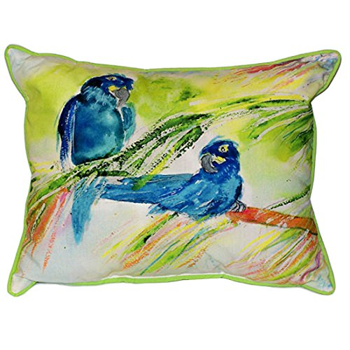 Betsy Drake Two Blue Parrots Extra Large 20 X 24 Indoor / Outdoor Pillow price