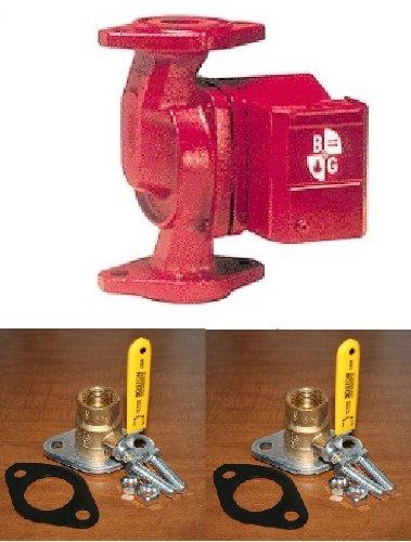 "B&G NRF-22 Circulator Pump 103251 w/FNPT Rotating Flanged Ball Valves [3/4""]"