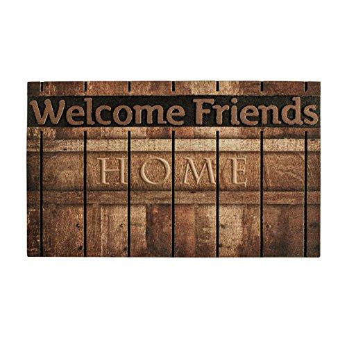 Friends Door Mat - Front Door Mat Entrance Rug Floor Mats, Waterproof Floor Mat Shoes Scraper Doormat, 18''x30'' Patio Rug Dirt Debris Mud Trapper Outdoor Welcome Door Mat Carpet (Welcome Friends)