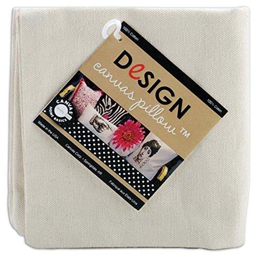 Canvas Corp CVS1139 Square Canvas Pillow, 14-Inch, Natural, 1-Pack [並行輸入品] B07RDXDR3C