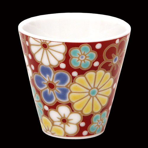 KUTANI YAKI(ware) Sake Cup Plum and - Shipping Free Shop Online China