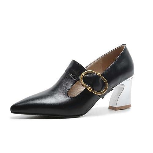 97f3f629 Zapatos de Tacón Alto de Corte bajo para Mujeres Sandalias con Hebilla de  Confort de Moda
