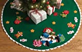 Bucilla Felt Applique Christmas Tree Skirt Kit, 43-Inch Round, 86245 Christmas Morning