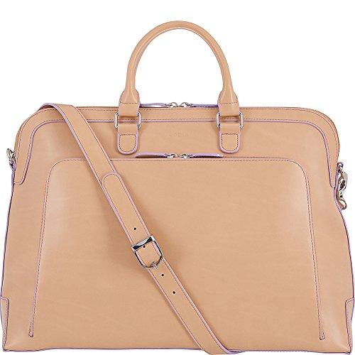 Lodis Bag (Audrey RFID Brera Briefcase Shoulder Bag, Natural/Lavendar, One Size)