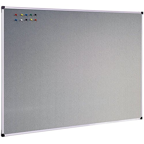 - XBoard Large Grey Fabric Bulletin Board, 48 x 36 inch, Wall Mounted Fabric Message Notice Board Sliver Aluminum Framed for Home Office School