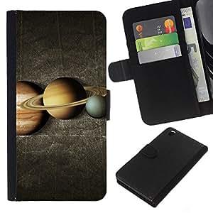 eJoy---La carpeta del tirón la caja de cuero de alta calidad de la PU Caso protector - HTC DESIRE 816 - --Space Planet Galaxy Stars 24