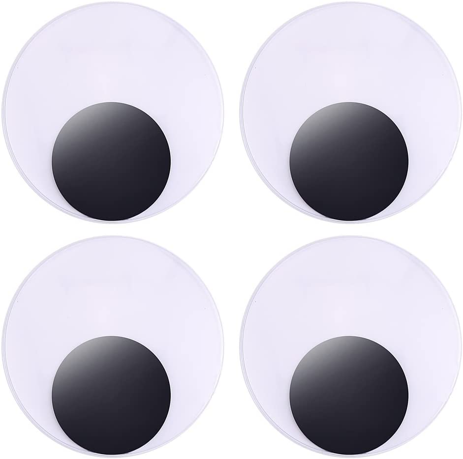 3 Inches Large Giant Wiggle Googly Eyes with Self Adhesive Crafts,Pack of 4