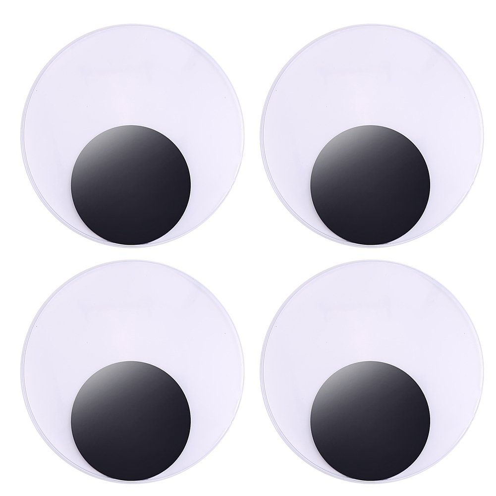 DECORA 3 Inch Large Sized Plastic Wiggle Googly Eyes Self Adhesive Crafts Set of 4 4336856364