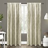 Exclusive Home Curtains Como Rod Pocket Window Curtain Panel Pair, Wheat, 54×96
