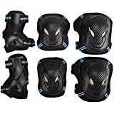 PELLOR Outdoor Sports Protective Gear Skating Cycling Sports Gear Set of 6pcs For Children & Adults
