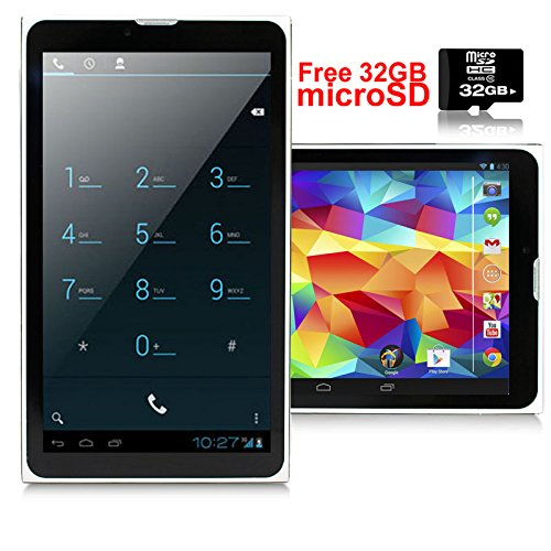 Indigi 7.0inch HD Android 4.4 WiFi+3G Tablet Phone - Factory Unlocked - GSM+WCMDA - 32GB microSD Included by inDigi