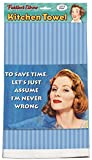 ''To Save Time, Let's Just Assume I'm Never Wrong'' 100% Cotton Eco-friendly Dish Towel, Kitchen Towel With Hanging Loop, Kitchen Towel With Funny Quote