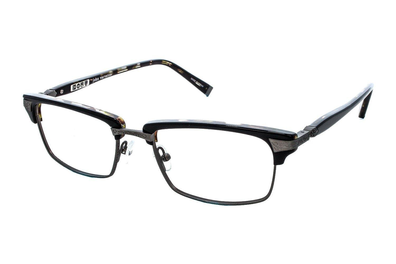 f43f9de519 Amazon.com  John Varvatos Men s Eyeglasses V145 V 145 Black Tortoise  Optical Frame 53MM  Clothing