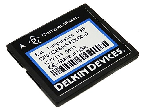(Delkin Devices 1GB Industrial Rugged CompactFlash Memory Card CF01GESH5-FD000-D)