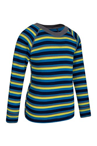 Mountain Warehouse Merino Kids Top- Breathable, Light Childrens Tshirt Blue 5-6 Years by Mountain Warehouse (Image #2)