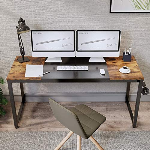 Aclumsy Computer Desk 63″ Home Office Writing Study Desk
