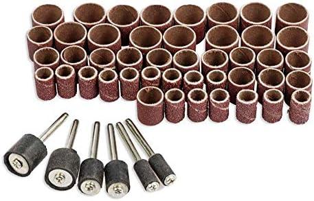 ZGQA-GQA リングサンドペーパー研削ヘッドメタルサビサンドペーパー研磨ホイールモデル男性DIY 51セットの砥石研削、研磨を再生します
