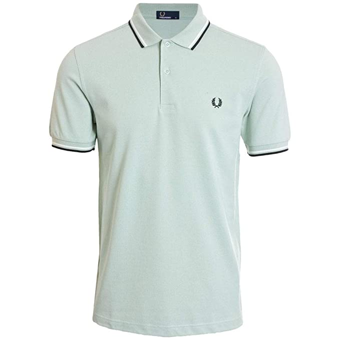 c52d63bb Fred Perry Men's Twin Tipped Polo Shirt M3600 H40 Light Green:  Amazon.co.uk: Clothing