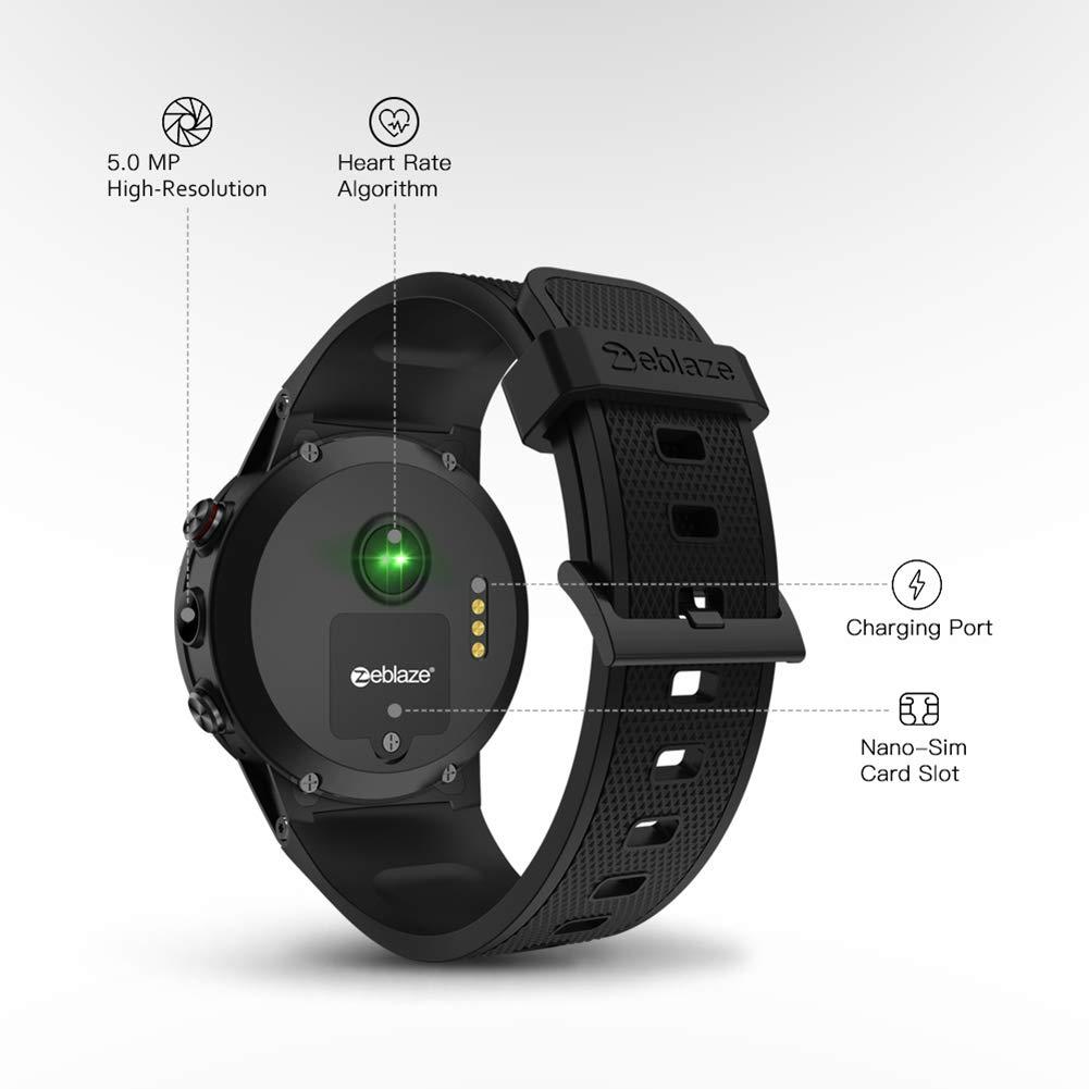 Zeblaze Thor Reloj Inteligente 4 Plus MTK6739 Quad Core Android 4G con Bluetooth y Monitor de frecuencia cardíaca GPS: Amazon.es: Electrónica