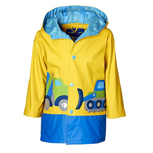 Wippette Boys & Toddlers Rain Jacket With Matte Construction Work Zone Print