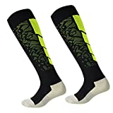Cheap Luwint Men & Women Long Non Slip Socks – Breathable Cotton Non Skid Socks for Sports Running Soccer Yoga, 1 Pair (Green/Black)