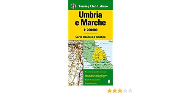 umbria and the marches italy road and tourist map english spanish french italian and german edition
