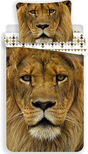 Baumwolle Bettwäsche 140x200 1x 70x90 Löwe// Lion
