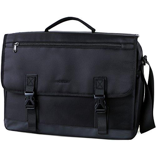 Messenger Bag For Men,Water Resistant Lightweight 15in Laptop Bag Business Briefcase ()
