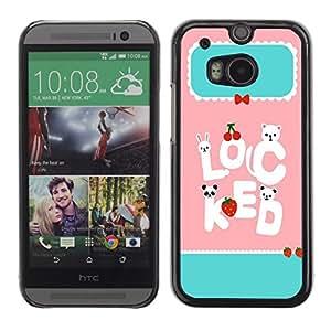 Dragon Case - FOR HTC One M8 - stay with each other - Caja protectora de pl??stico duro de la cubierta Dise?¡Ào Slim Fit