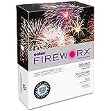 Boise Fireworx Color Copy/Laser Paper, 20 lb, Letter Size (8.5 x 11), Bottle Rocket Blue, 500 Sheets (MP2201-BE)