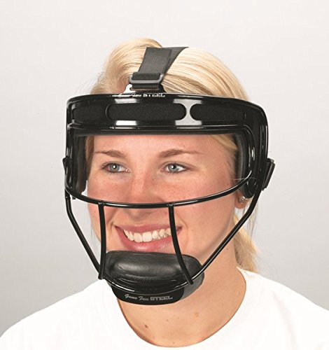 Game Face Softball Safety Mask with Black (Softball Pitchers Face Guard)