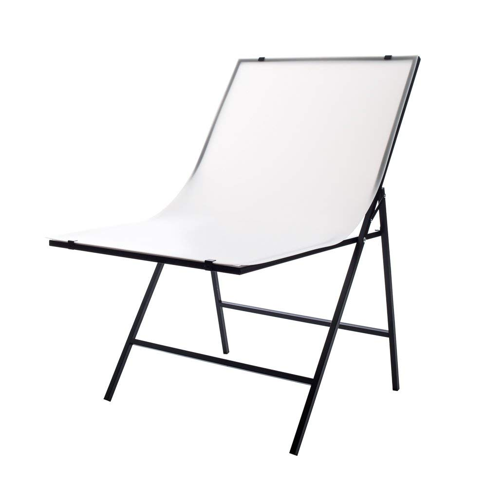 Fovitec for Product Photography Portable Folding Studio Shooting Table Macro /& Still life with Double Sided Non-Reflective White Background 61cm x 101cm