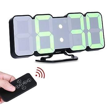 Amazonde Kobwa Remote Kontrolle 3d Led Digitale Wecker Alarm Uhr